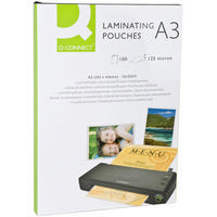 Q-Connect Laminating Pouch A3 125micron Pk100 KF04124