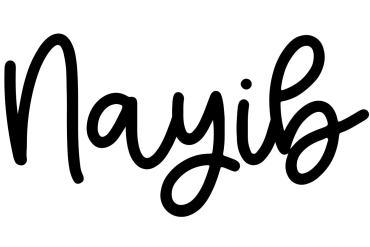 About the baby nameNayib, at Click Baby Names.com