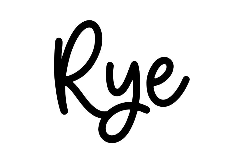 About the baby name Rye, at Click Baby Names.com
