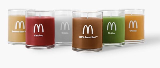 is mcdonald's selling candles