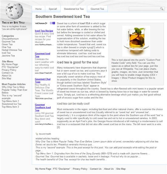 Wikipedia Theme