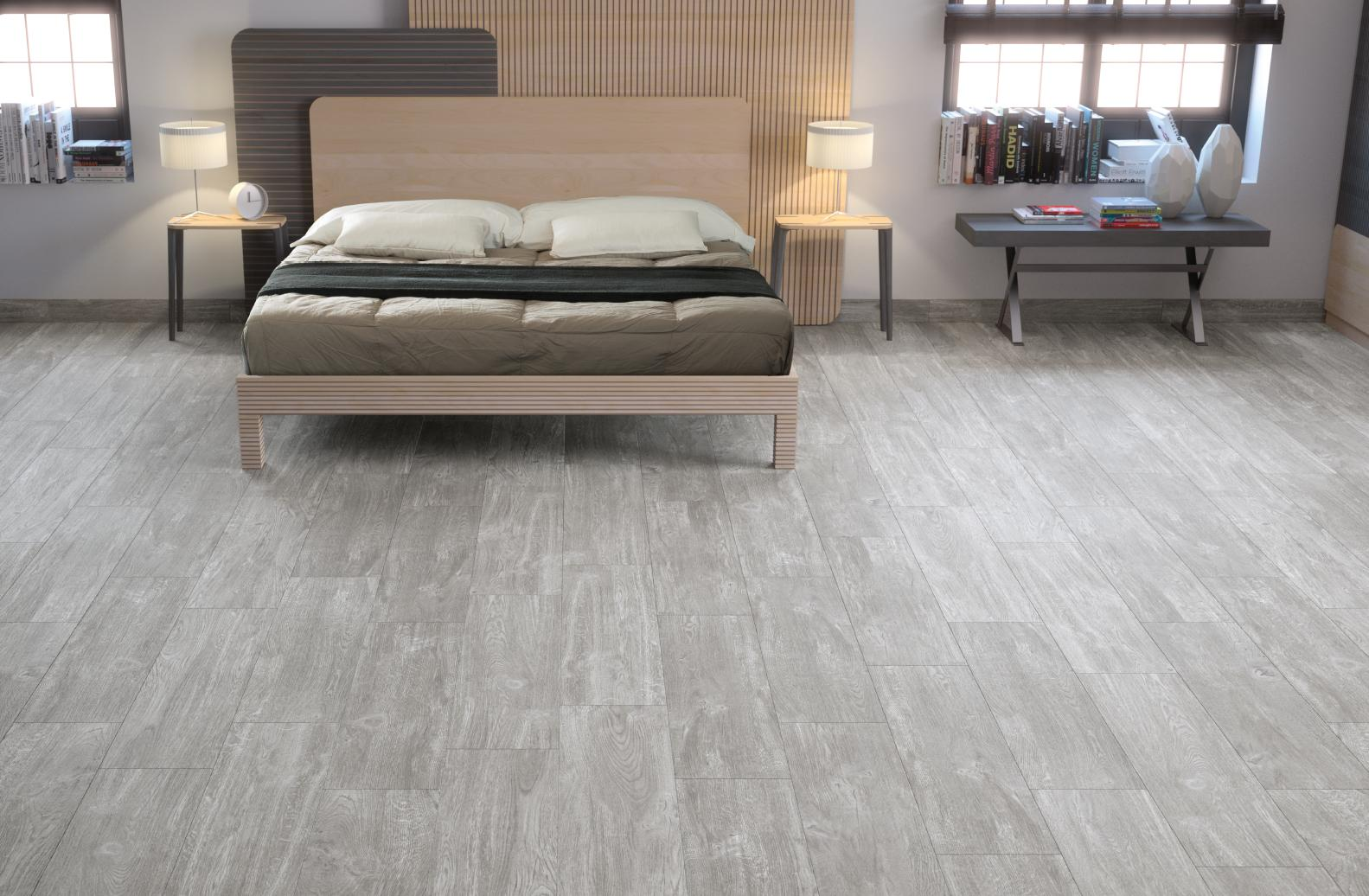Porcelanico imitaci n madera con relieve clickdecormadrid for Suelo porcelanico gris