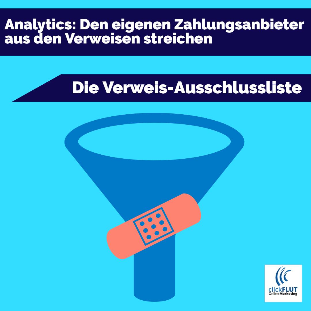 Verweis von Zahlungsanbieter aus Analytics entfernen