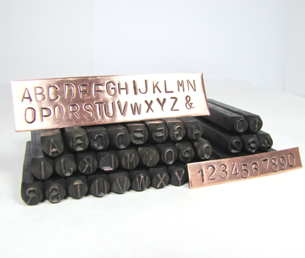 metal letter stamps