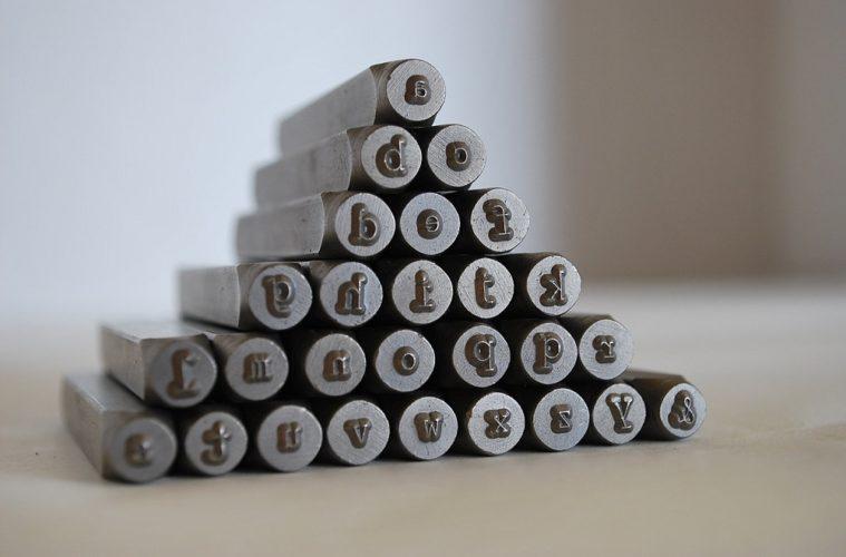 metal letter stamps