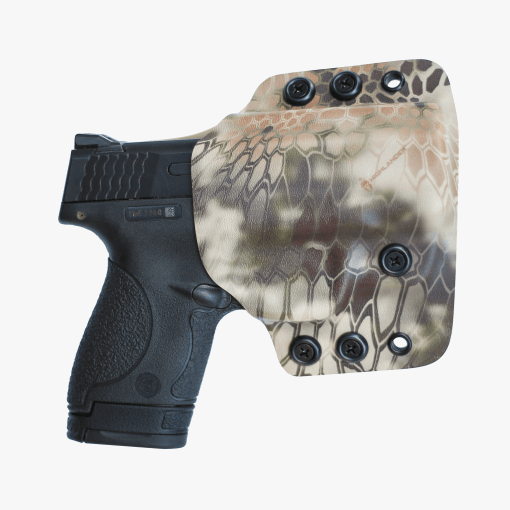 Outside the waist band (OWB) custom kydex holster made by click holsters.