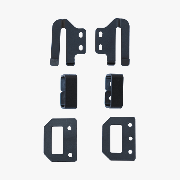black holster clips and accessories by click holsters