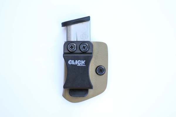 single magazine holster with belt clip for easy carrying
