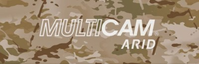MultiCam™ arid fabric kydex on camouflage background