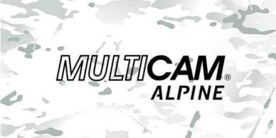 MultiCam™ alpine fabric kydex with white camouflage look