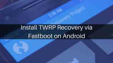 TWRP Recovery via Fastboot on Android