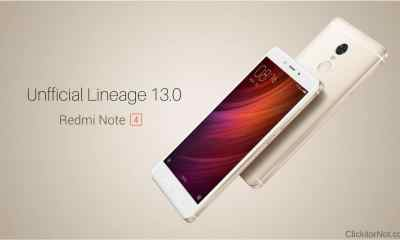 Unofficial Lineage os 13.0 on Xiaomi Redmi Note 4