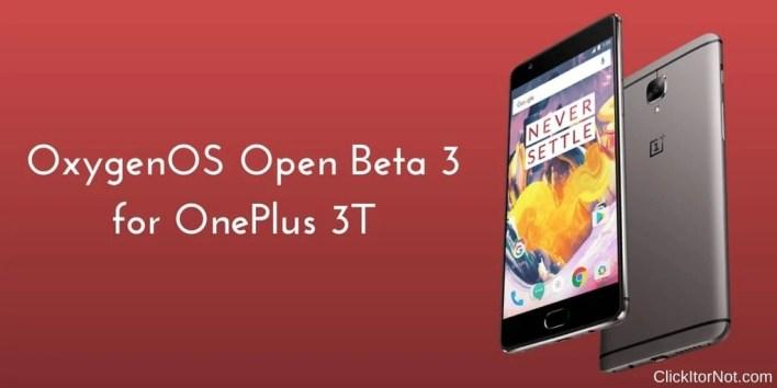 OxygenOS Open Beta 3 (7.1.1) on OnePlus 3T
