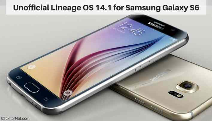 Lineage OS 14.1 on Samsung Galaxy S6