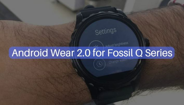 Android Wear 2.0 on Fossil Q Series
