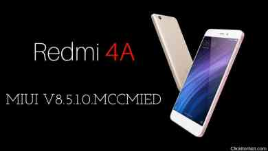 MIUI V8.5.1.0.MCCMIED Global Stable ROM on Redmi 4A