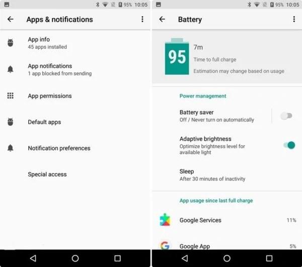 Android Oreo battery life