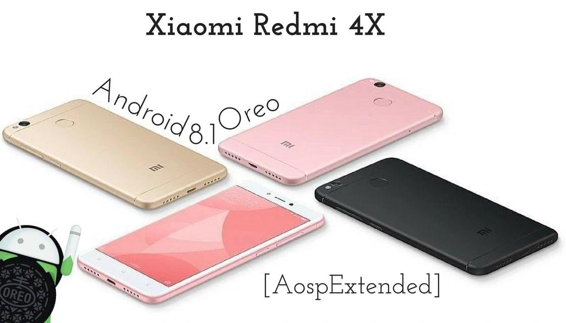 Android 8.1 Oreo on Xiaomi Redmi 4X