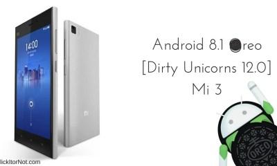 Android 8.1 Oreo on Xiaomi Mi 3