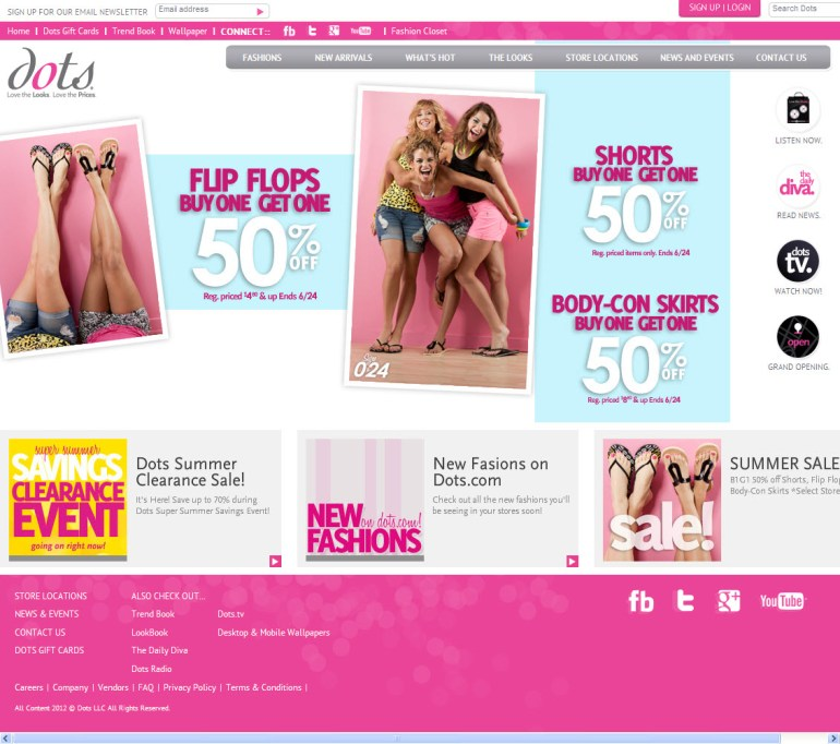 Dots Nationwide Clothing Stores