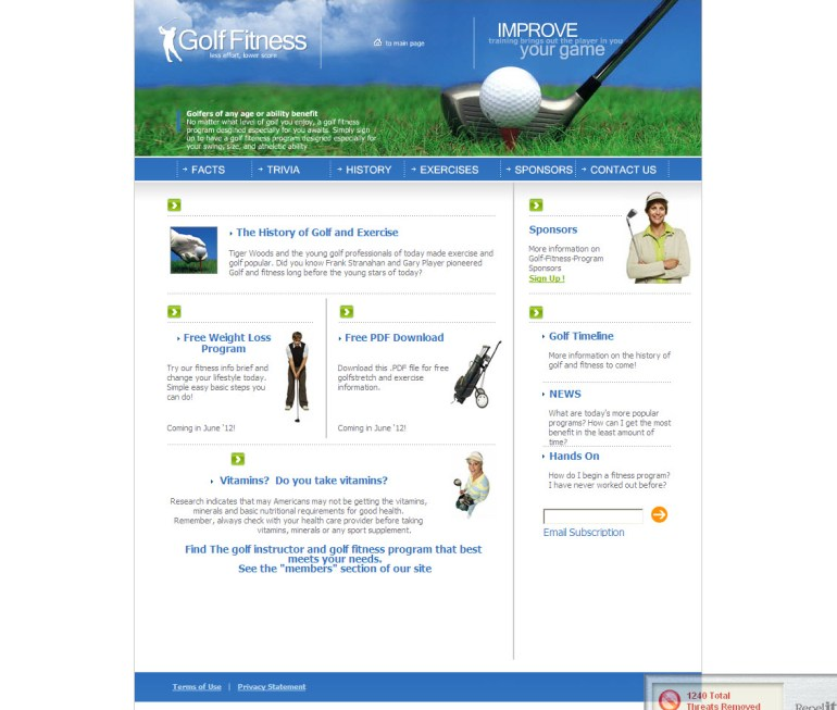 Golf Fitness Program