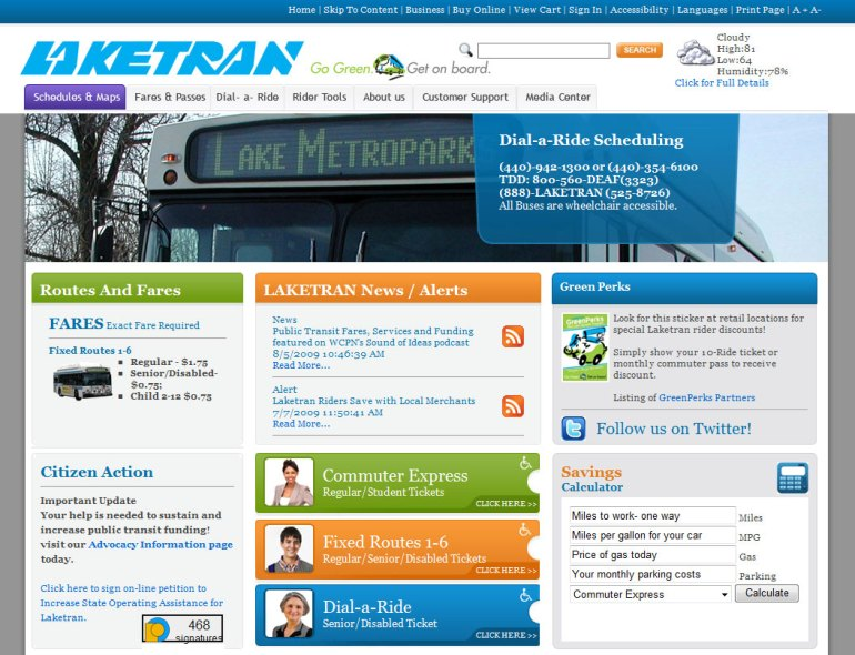 Laketran Regional Transportation