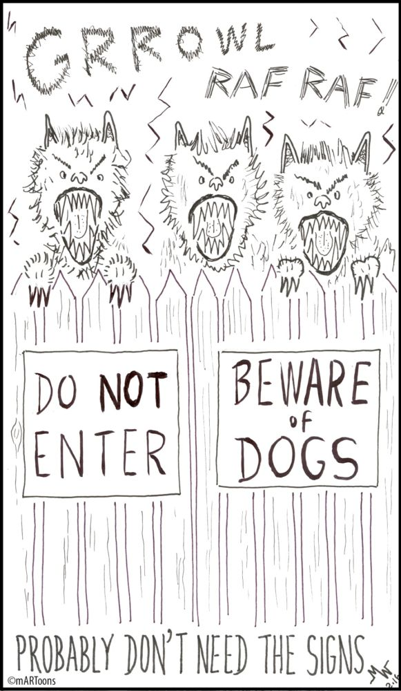 MT#2 Dog Signs