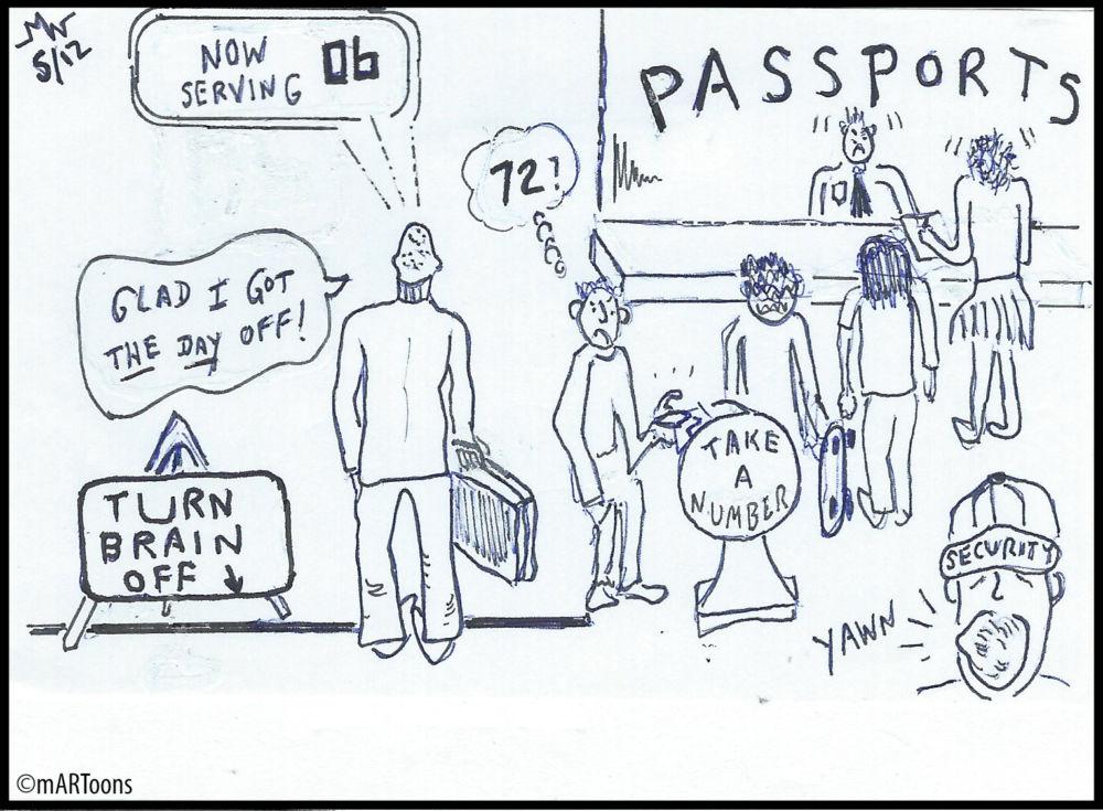 MT#118 Passport Line-Up by Martin West