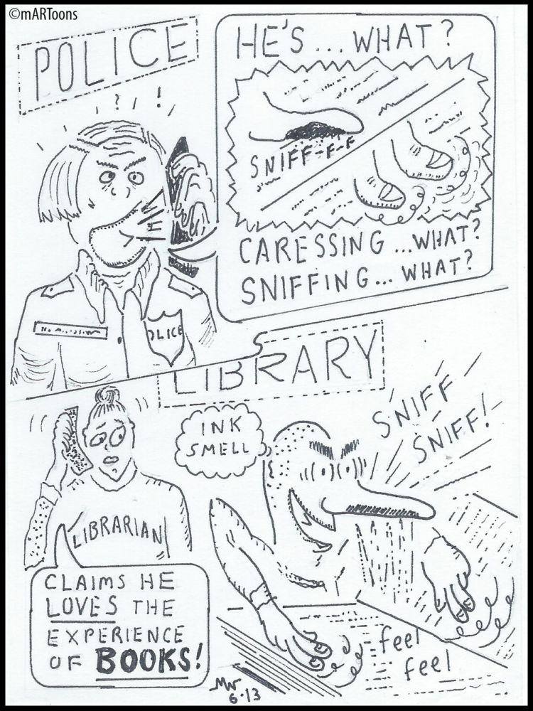 MT#335 Book Smeller by Martin West