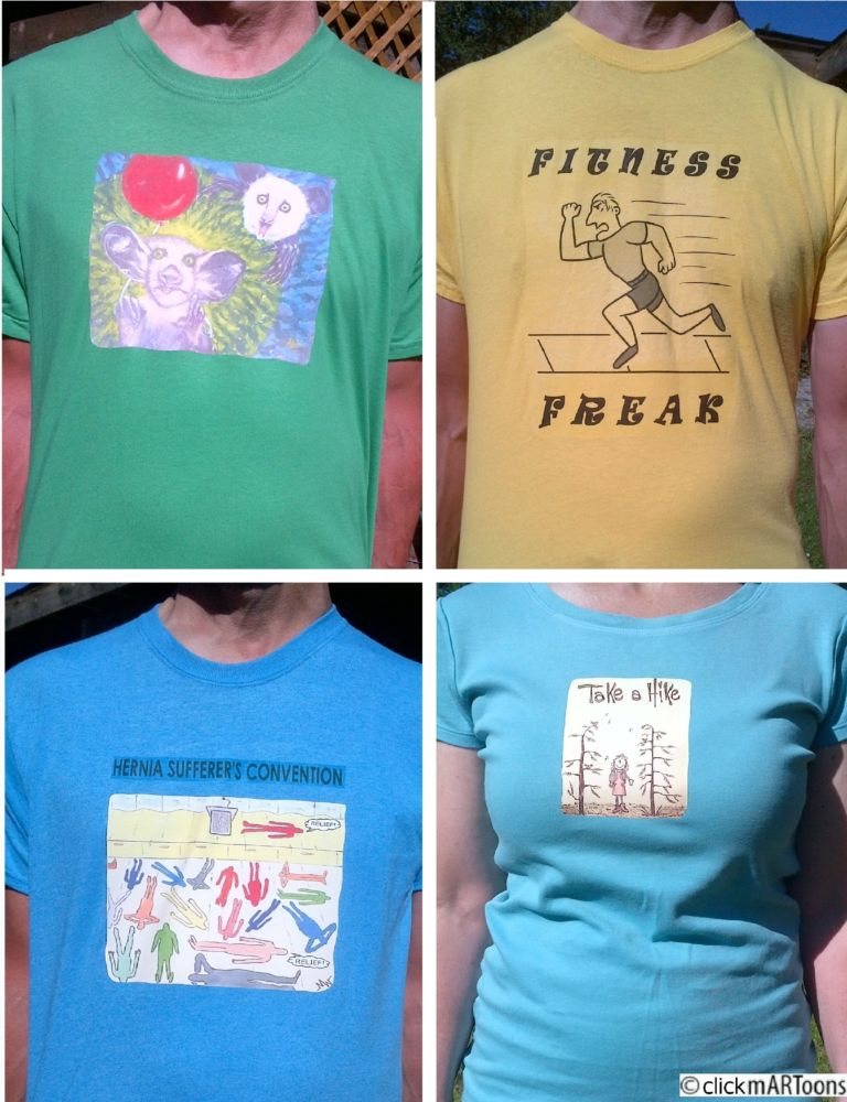 MT#951 Four New mARToons T-shirts
