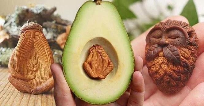 Semente de abacate dão vida a seres mágicos