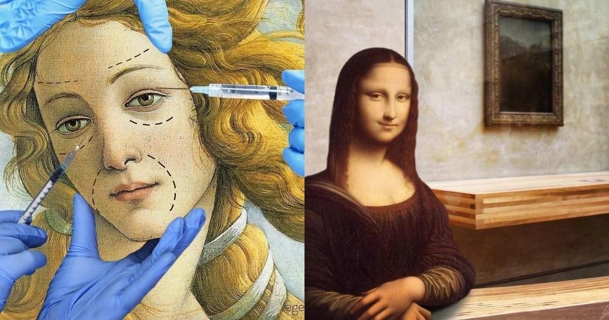 Ege Islekel transforma pinturas renascentistas ao adicionar símbolos atuais e cenários contemporâneos