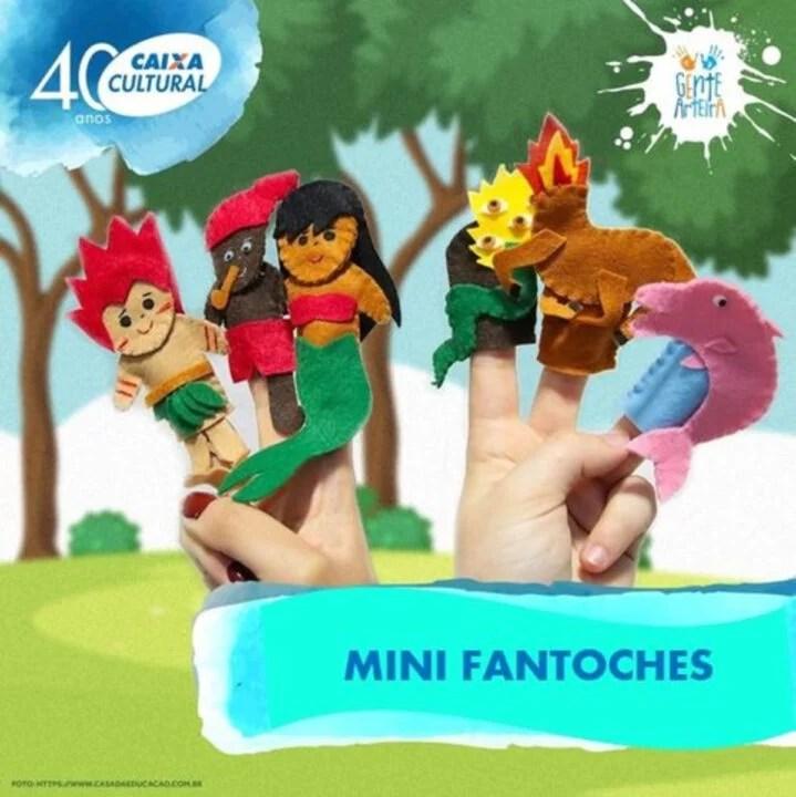 Caixa Cultural convida para oficina online e gratuita de Mini Fantoches