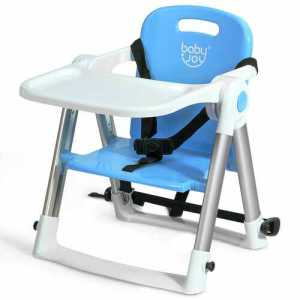 blue baby seat booster