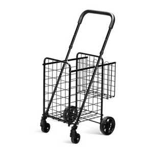 Black folding shopping cart