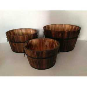Brown Wood Garden Planter