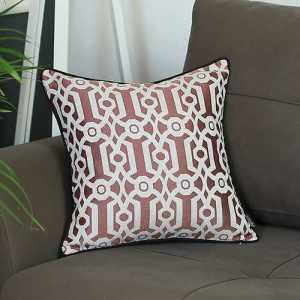 Red Jacquard Pillow Cover