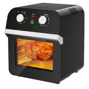 Rotisserie convection air-fryer oven