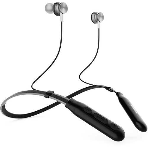 Bluetooth Neckband Earbuds Silver