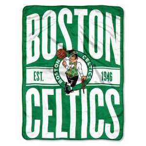 Boston Celtics Micro Raschel Blanket Design Rolled with free shipping