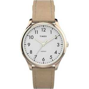 Timex Women's Leather-Strap Watch without any shipping cost.