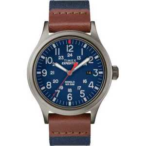 Brown Leather Trim Watch