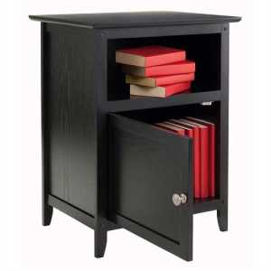Black End Table Nightstand
