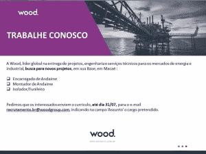 A Wood Group abre vagas em Macaé -RJ.