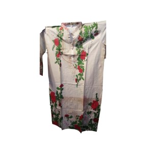 Computer flower Printed Pakistani Desi Clothes for full hands for sale