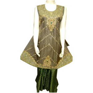 brown color pakistani desi clothes
