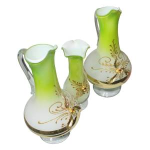 Green color vase decorated piece for home use - shop online in pakistan