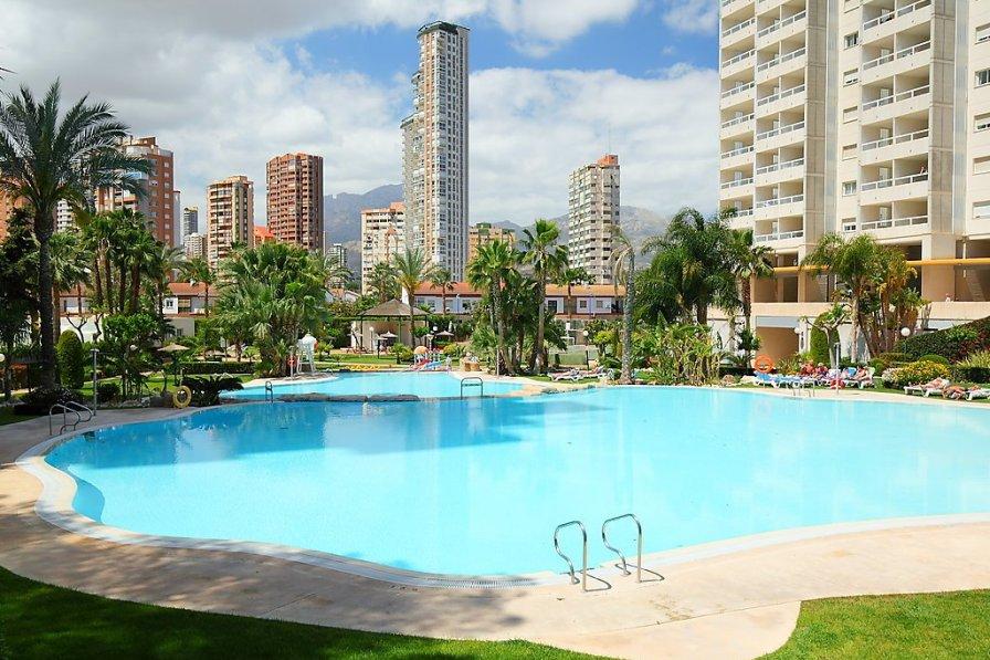 Apartment in Spain, Benidorm swimming pool