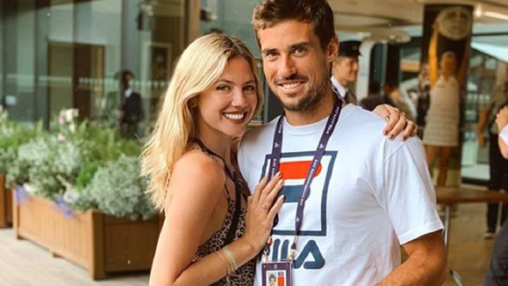 Stephanie Demner viajó Roma para reencontrarse con Guido Pella