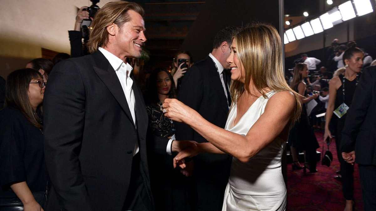 Jennifer Aniston, Brad Pitt y un reencuentro virtual lleno de indirectas